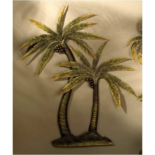 Coco Palm Tree Metal Wall Decor