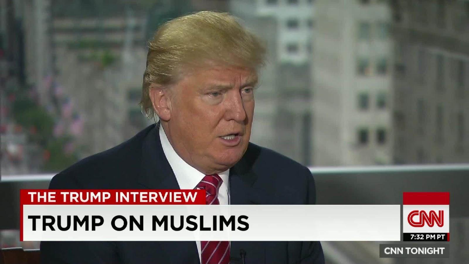 Resultado de imagem para Trump e os muslims