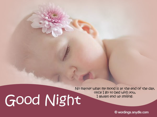 Ravishing Good Night Images And Wishes With Little Baby Girl