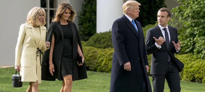 Μελάνια Τραμπ και Μπριζίτ Μακρόν έκαναν διαγωνισμό ποια θα βάλει το πιο... μίνι φόρεμα [εικόνες]