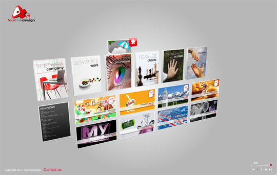 3d flash websites