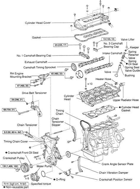 98-99 Chevrolet 1.8L DOHC Corolla Timing Chain Kit 1ZZFE