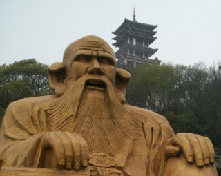 Giant Laozi in Wuxi Jiangsu China