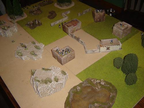 Village before assault begins