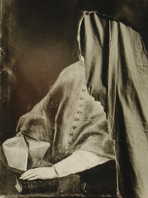 Cuadro de El Greco roto a cuchilladas (Retrato del Cardenal Tavera). Archivo Rodríguez