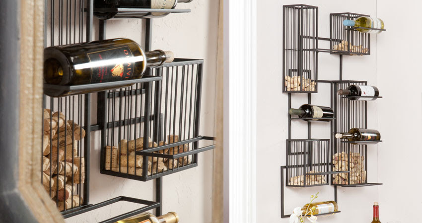 Wall Mounted Wine Racks In Modern Vintage Style