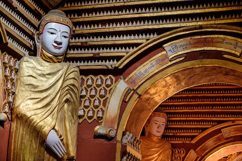 Thousands of Buddhas at Mohnyin Thambuddhei Paya in Monywa