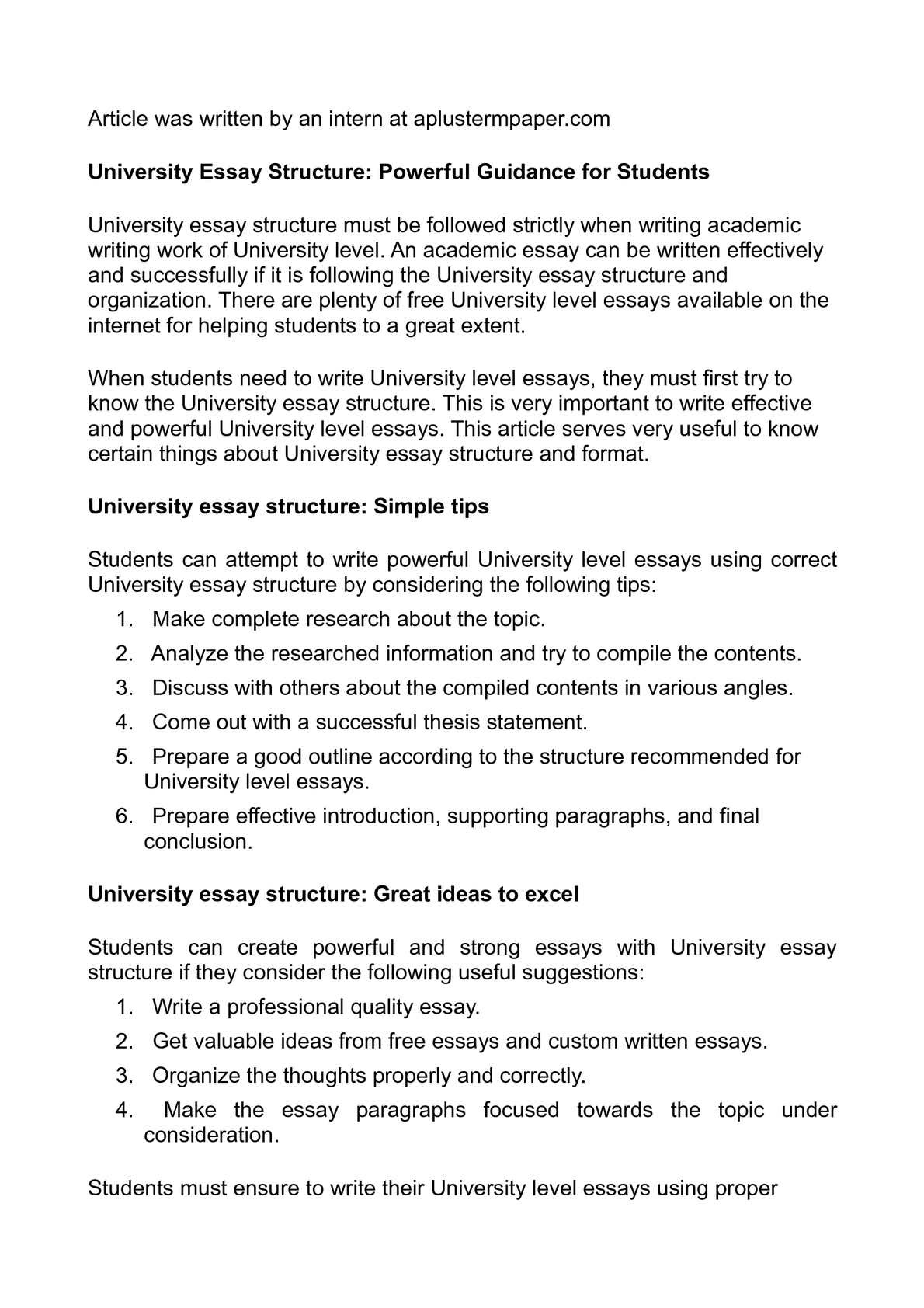 how to write a uni essay introduction
