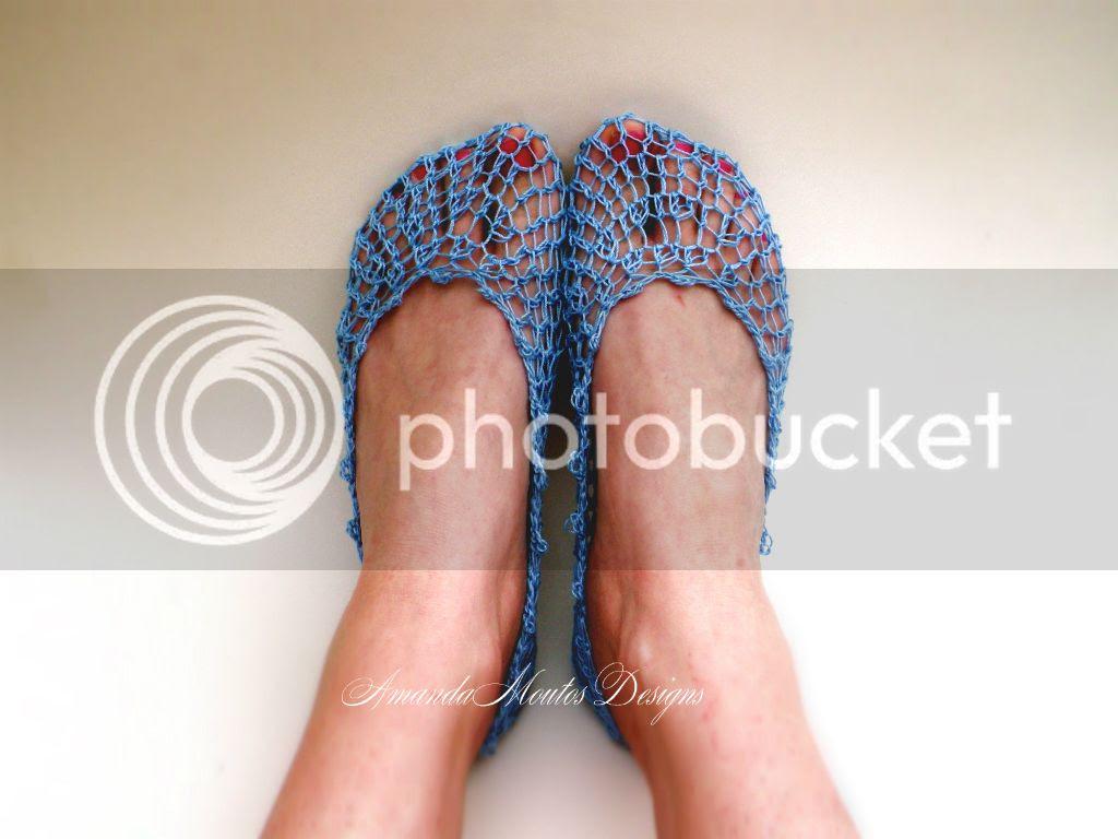 FREE Peek-a-boo Lace Socks Crochet Pattern by Amanda Moutos Designs