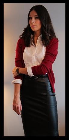 00_Como usar saia de couro_Look para trabalhar