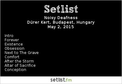 Noisy Deafness Setlist Total Terror 2015 2015