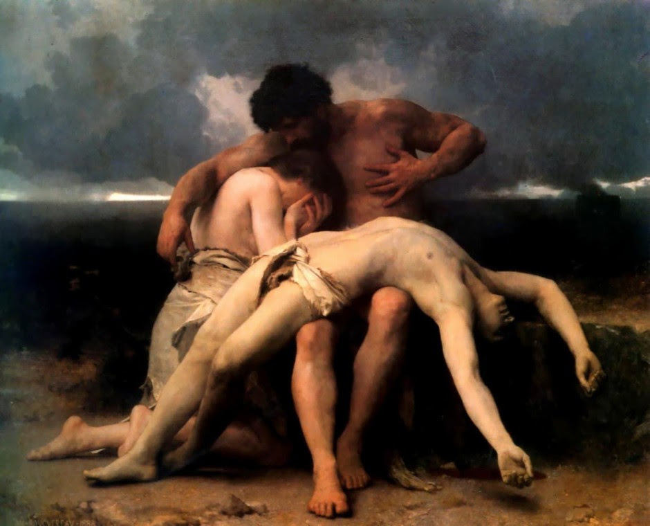 William Bouguereau,The First Mourning(1888)