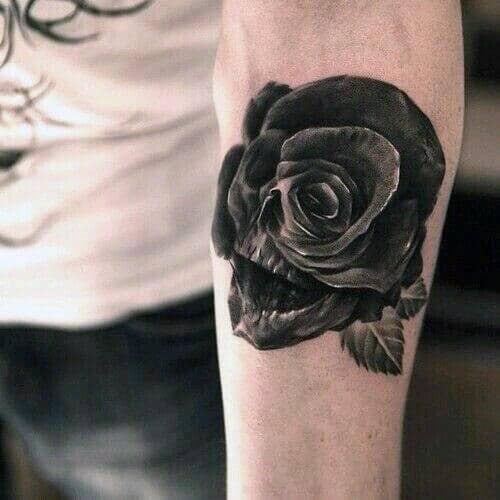 Tatuagens De Rosa Negra Para Homens