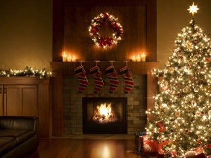 Cozy Christmas Pictures Cozy Fireplace Scene Christmas Fireplace Scene