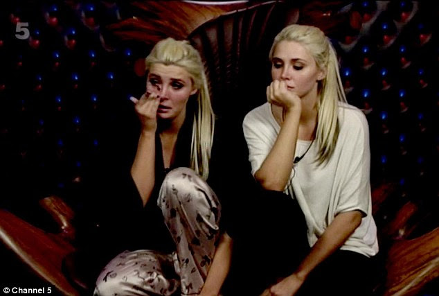 Too upset: Kristina joined Karissa in the diary room and comforted her sister who was reduced to tears