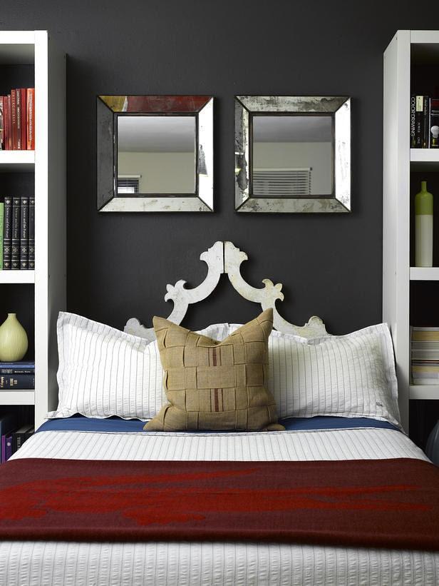Gray Bedroom / HGTV