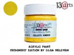 Acrylic Paint Yellow Amber