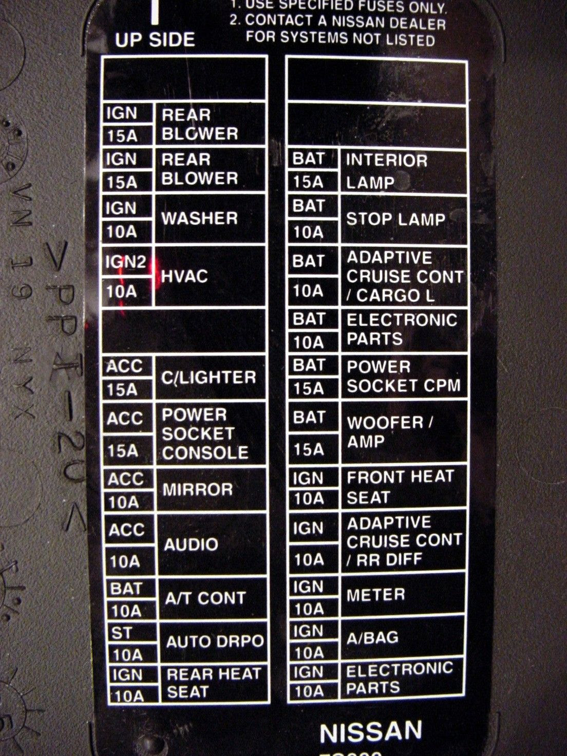 2009 nissan altima interior fuse box diagram great installation of