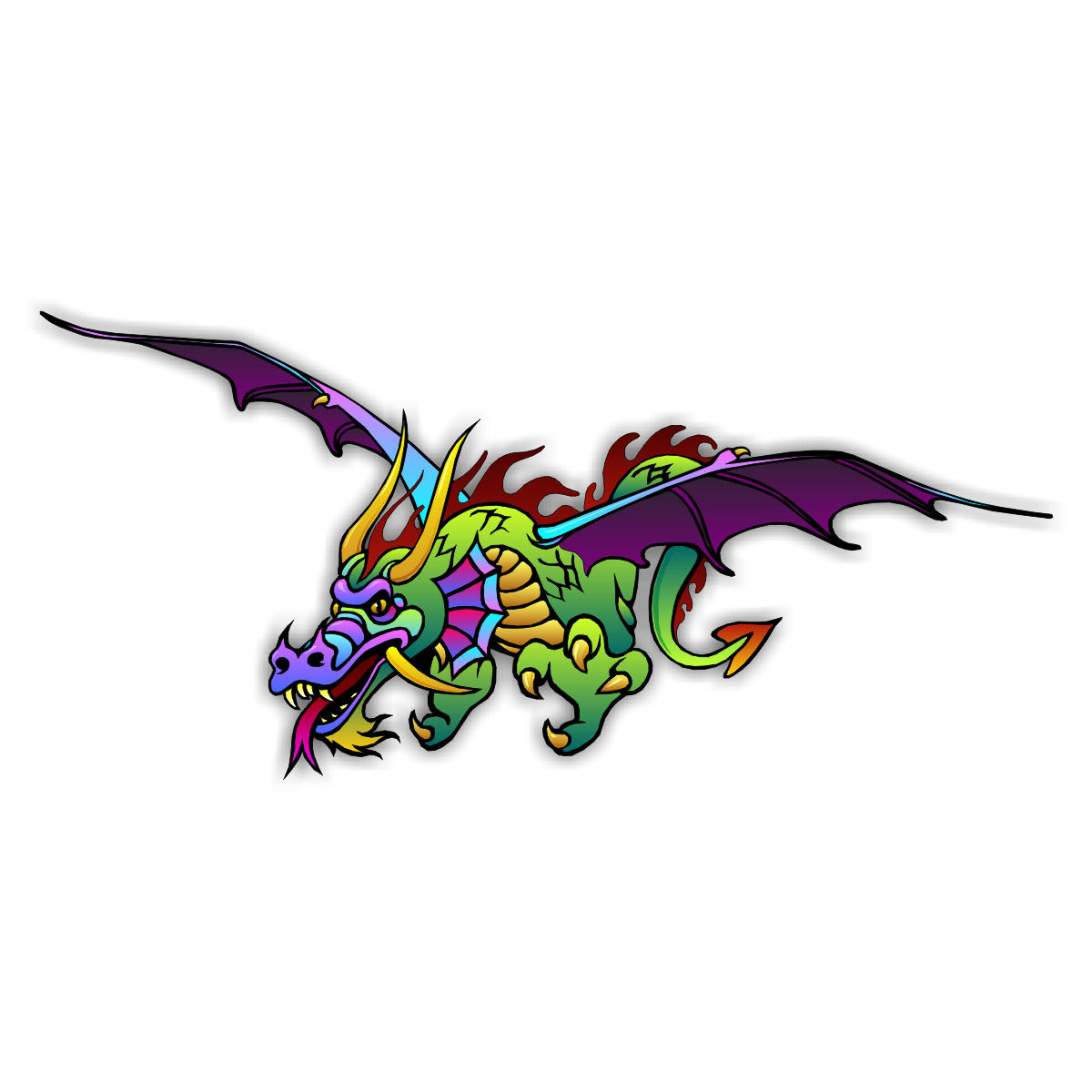 ausmalbilder drachen fabelwesen  zeichnen und färben