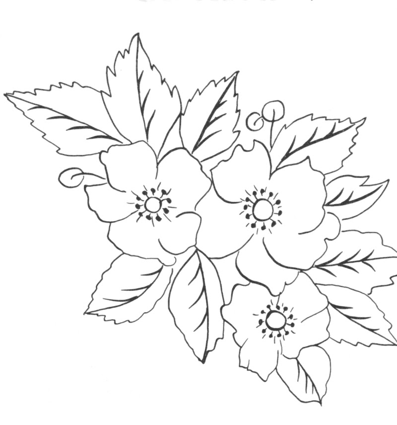 without color flowers tattoo sample