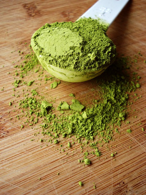 white chocolate matcha truffle