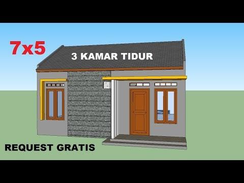 trends desain rumah minimalis 7x5 meter 3 kamar tidur