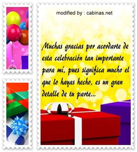 Carta De Agradecimiento Por Felicitarme En Mi Cumpleaños Q