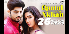 Qaatal Akhan Lyrics In Hindi हिन्दी ਪੰਜਾਬੀ - Gurnam Bhullar