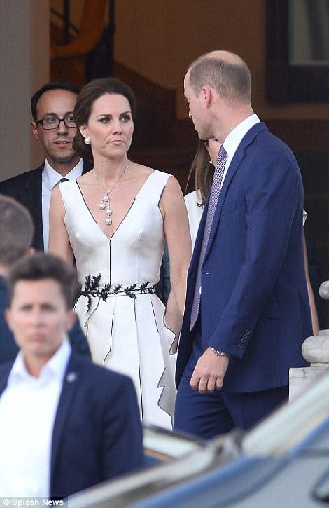 Kate championed Polish fashion in the edge asymmetric dress from Polish designerGosia Baczynska