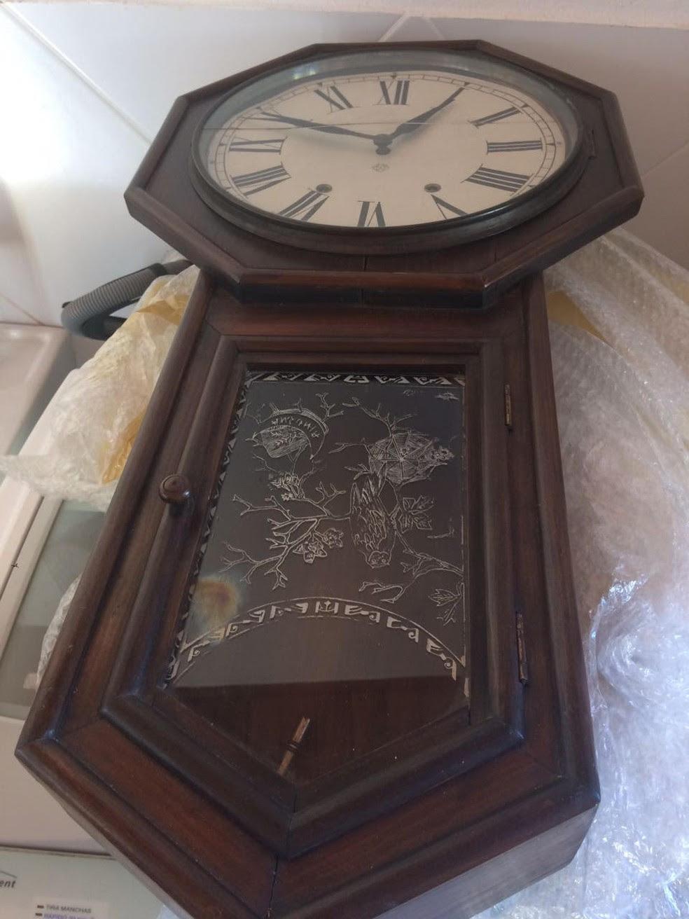 Relógio antigo está entre os bens que serão avaliados pela PF (Foto: Divulgação/MPF)