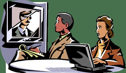 ビジネス会議ビデオ会議 ロイヤリティ無料ベクタークリップアート