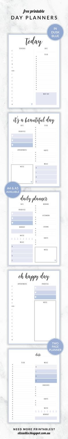 FREE PRINTABLE IRMA DAILY PLANNERSYOU MAY ALSO LIKE | Organizing ...