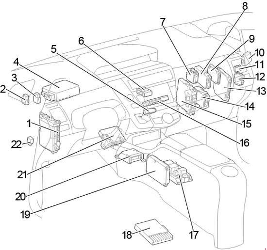11 18 Toyota Prius V Prius Fuse Diagram