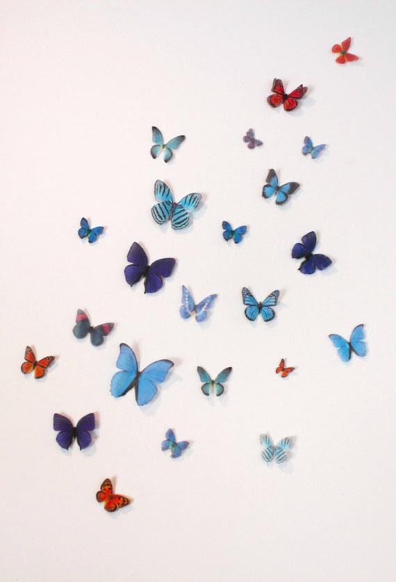 Organza Butterfly Wall Decoration 42 Wedding by ButterflyWonders
