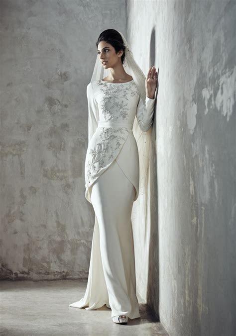 melinda looi ivory  baju akad nikah modern baju