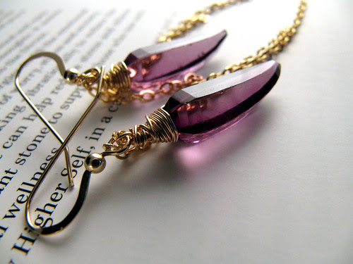 Amethyst Daggers with Chain
