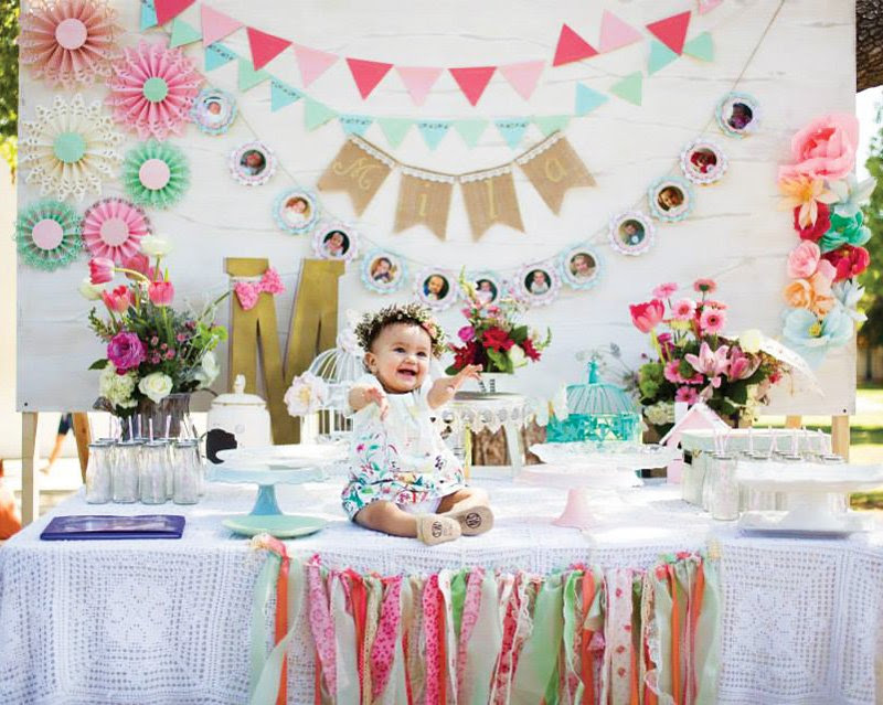 Blooming Spring Fling First Birthday Party Hostess With The Mostess
