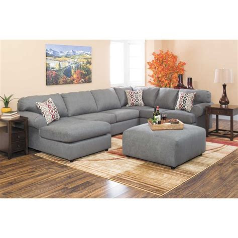 jayceon  piece steel sectional  raf chaise  rc