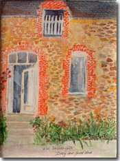 Painting of the front of our Gite