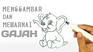 All Clip Of Mewarnai Gajah Bhclipcom