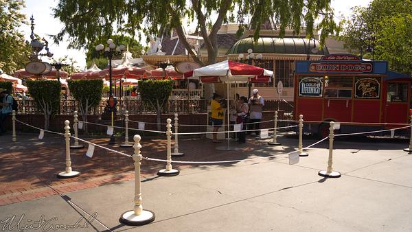Disneyland Resort, Disneyland60, Disneyland, Main Street U.S.A., Corn, Dog, Wagon, Queue, Rope