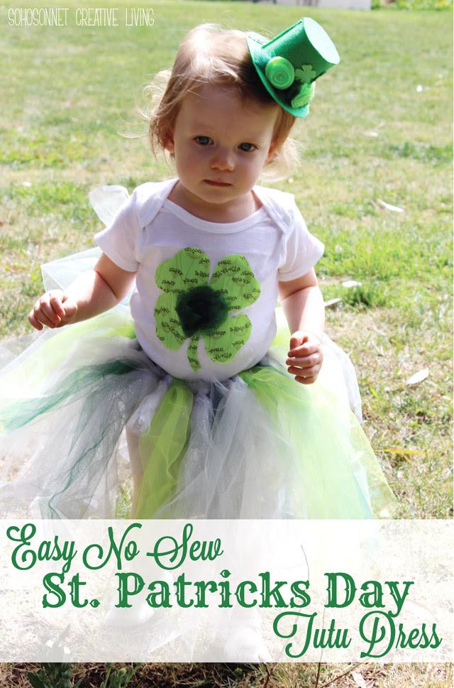 Diy St Patricks Day Toddler Tutu Dress Sohosonnet