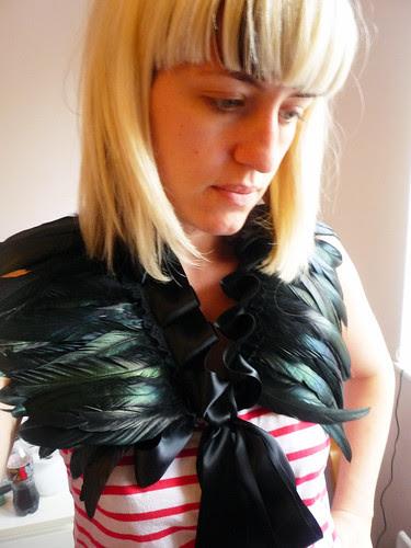 lulu o'neil feather collar