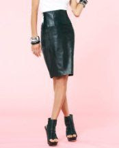 Kardashians by bebe Leather Pencil Skirt