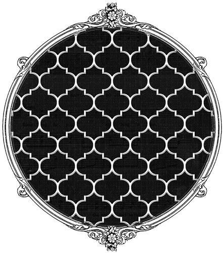 chalkboard small ML moroccan tile paper SAMPLE