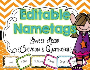 EDITABLE Name Tags {Sweet Decor Chevron and... by Live Love Laugh ...