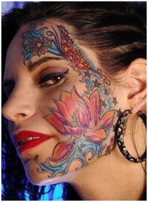 jaw dropping face tattoos shock