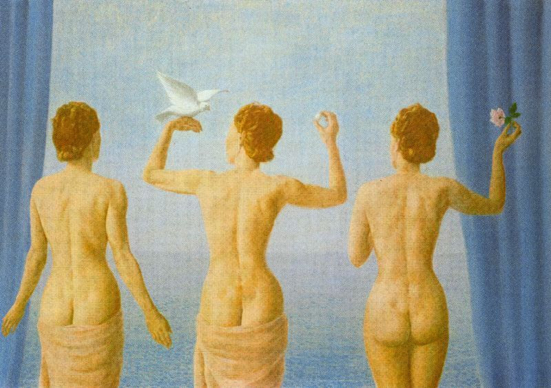 The break in the clouds (The calm), 1941 Rene Magritte