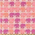 Bliss Flannel Elephant March Ruby