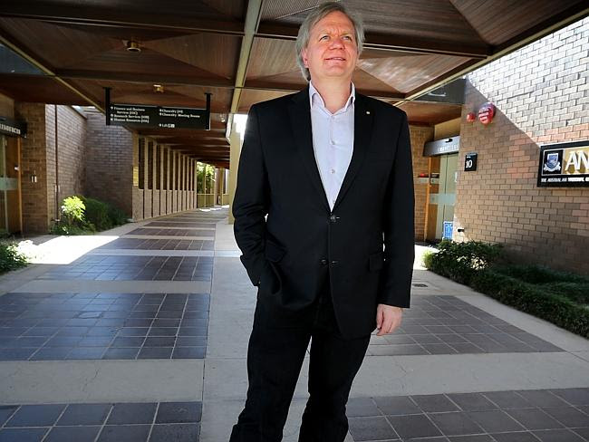 Interrogated ... Nobel prize-winning astrophysicist Professor Brian Schmidt at the Austra